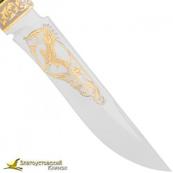 Нож Н2 - украшенный (сталь 40Х10С2М) Рукоять стабилизированная берёза