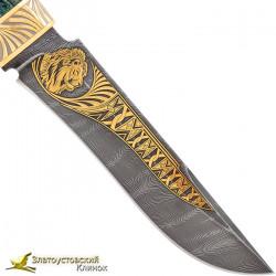 Нож Н2 - украшенный. Рукоять стабилизированная берёза