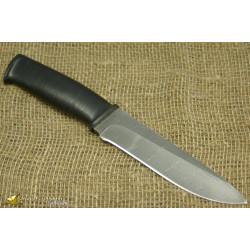 Нож Н1 - Сталь чёрный дамаск, рукоять кожа, текстолит