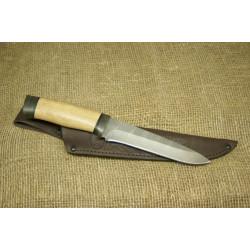Нож Н1Т - Сталь контрастный дамаск. Рукоять орех