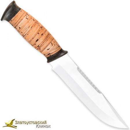 Нож Н83 - Сталь ЭИ-107. Рукоять береста, текстолит