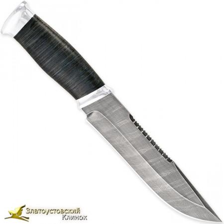 Нож Н83 - Сталь У10А-7ХНМ. Рукоять кожа, алюминий